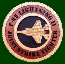 Laser Pics and Gifts: F-35 Joint Strike Force JSF Military Plaque - Laser Pics & Gifts