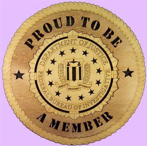 "Laser Pics and Gifts: 12"" FBI Professional Plaque - Laser Pics & Gifts"