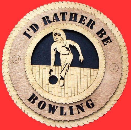 "Laser Pics and Gifts: 12"" FEMALE BOWLER Plaque - Laser Pics & Gifts"