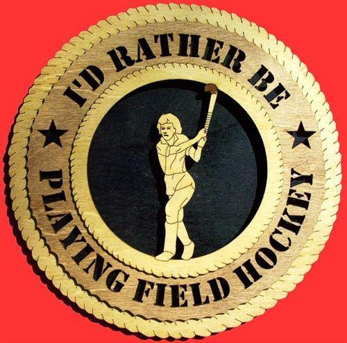 Laser Pics and Gifts: FEMALE FIELD HOCKEY Plaque - Laser Pics & Gifts