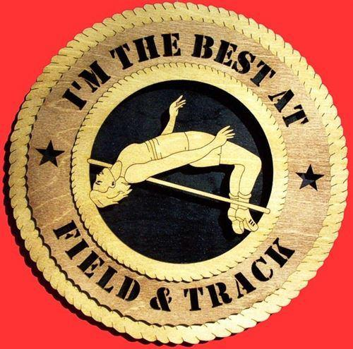 "Laser Pics and Gifts: 12"" FEMALE HIGH JUMP Plaque - Laser Pics & Gifts"