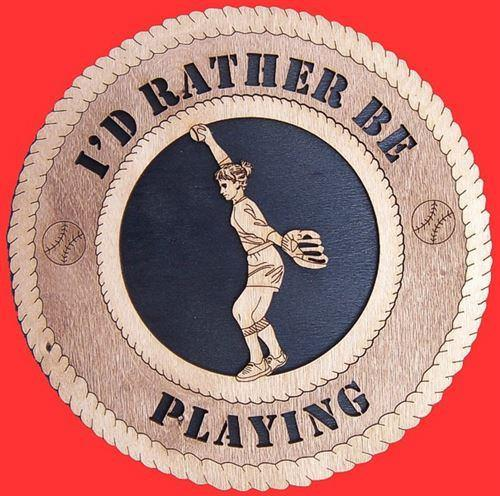 Laser Pics and Gifts: FEMALE PITCHER Plaque - Laser Pics & Gifts