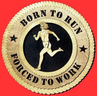 "Laser Pics and Gifts: 12"" FEMALE RUNNER Plaque - Laser Pics & Gifts"