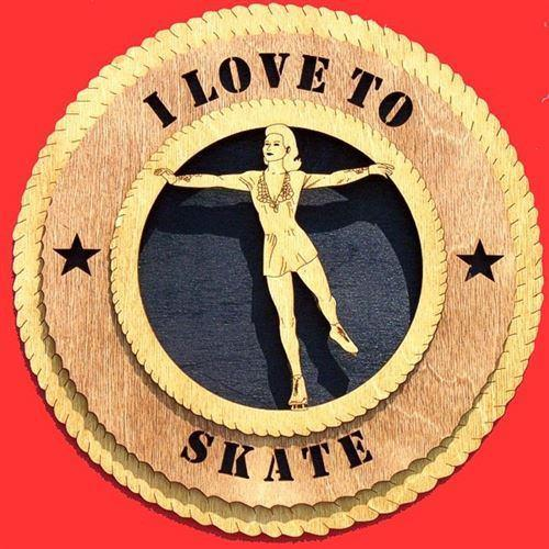 Laser Pics and Gifts:  FEMALE SKATER Plaque - Laser Pics & Gifts