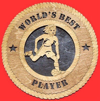 Laser Pics and Gifts: FEMALE SOCCER Plaque - Laser Pics & Gifts