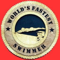 Laser Pics and Gifts:  FEMALE SWIMMER Plaque - Laser Pics & Gifts
