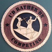 Laser Pics and Gifts: FENCING Plaque - Laser Pics & Gifts