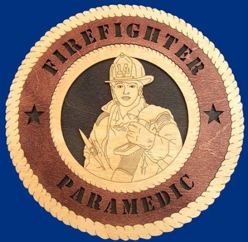 Laser Pics and Gifts: FIREFIGHTER FEMALE Professional Plaque - Laser Pics & Gifts