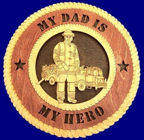 Laser Pics and Gifts: FIREFIGHTER MALE Professional Plaque - Laser Pics & Gifts
