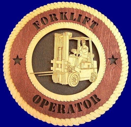 Laser Pics and Gifts:  FORKLIFT Professional Plaque - Laser Pics & Gifts