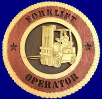 "Laser Pics and Gifts: 12"" FORKLIFT Professional Plaque - Laser Pics & Gifts"