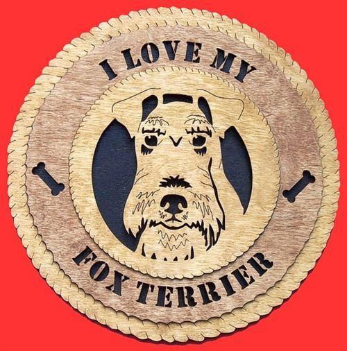 Laser Pics and Gifts: FOX TERRIER  Dog Plaque - Laser Pics & Gifts