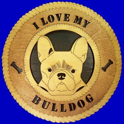 "Laser Pics and Gifts: 12"" FRENCH BULLDOG Dog Plaque - Laser Pics & Gifts"