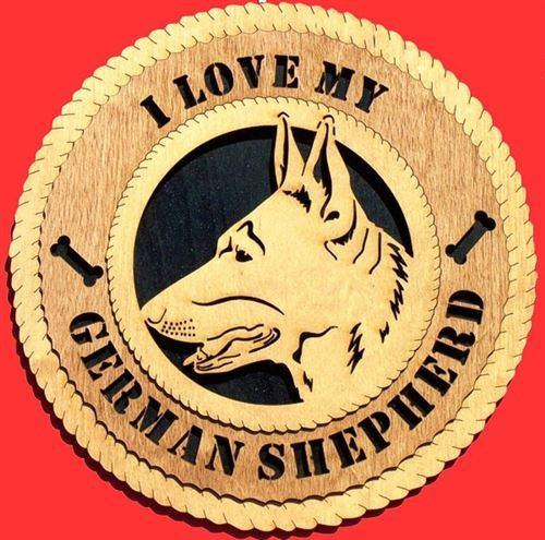 Laser Pics and Gifts: GERMAN SHEPHERD Dog Plaque - Laser Pics & Gifts