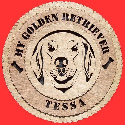 Laser Pics and Gifts:  GOLDEN RETRIEVER Dog Plaque - Laser Pics & Gifts