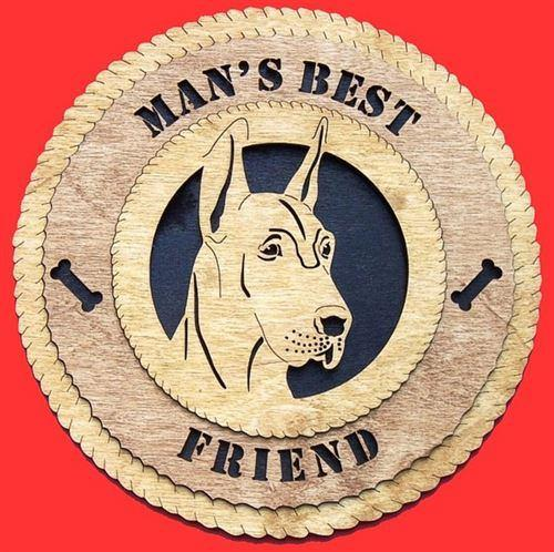 Laser Pics and Gifts: GREAT DANE CROPPED Dog Plaque - Laser Pics & Gifts
