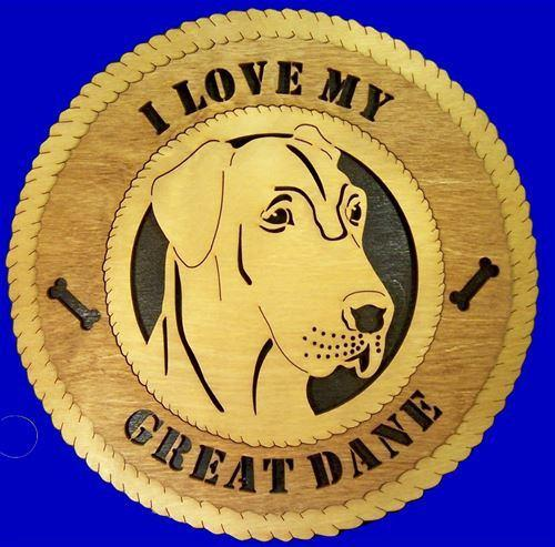 Laser Pics and Gifts: GREAT DANE UNCROPPED Dog Plaque - Laser Pics & Gifts
