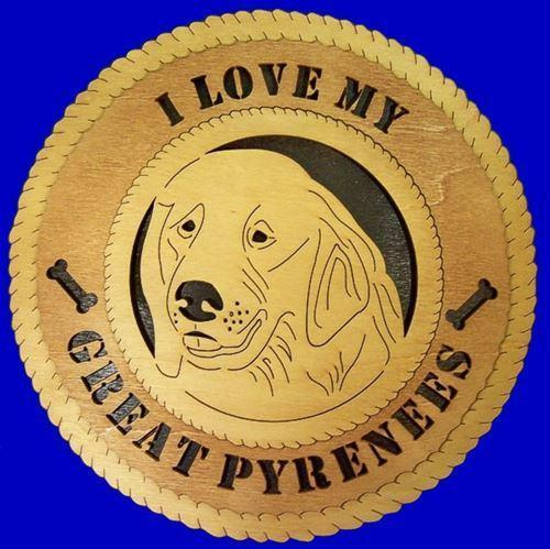 Laser Pics and Gifts:  GREAT PYRENEES Dog Plaque - Laser Pics & Gifts
