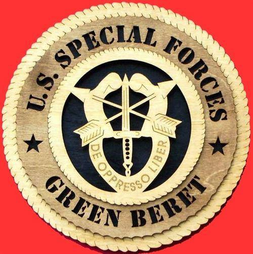 Laser Pics and Gifts: GREEN BERET Military Plaque - Laser Pics & Gifts