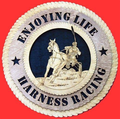 Laser Pics and Gifts: HARNESS RACING Plaque - Laser Pics & Gifts