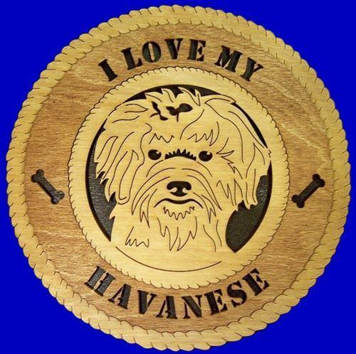 Laser Pics and Gifts: HAVANESE Dog Plaque - Laser Pics & Gifts