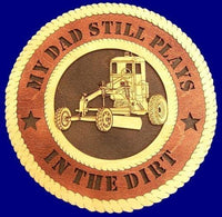 "Laser Pics and Gifts: 12"" HEAVY EQUIPMENT OPERATOR Professional Plaque - Laser Pics & Gifts"