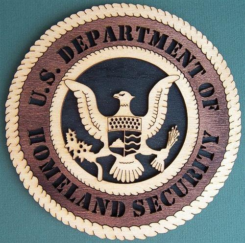 Laser Pics and Gifts: HOMELAND SECURITY Military Plaque - Laser Pics & Gifts