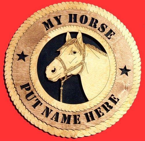 "Laser Pics and Gifts: 12"" HORSE HEAD  Plaque - Laser Pics & Gifts"