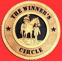 "Laser Pics and Gifts: 12"" HORSE & JOCKEY  Plaque - Laser Pics & Gifts"