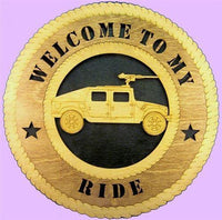Laser Pics and Gifts:  HUMVEE Military Plaque - Laser Pics & Gifts