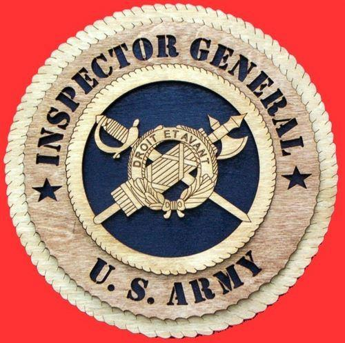 Laser Pics and Gifts: INSPECTOR GENERAL Military Plaque - Laser Pics & Gifts