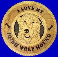 "Laser Pics and Gifts: 12"" IRISH WOLF HOUND Dog Plaque - Laser Pics & Gifts"
