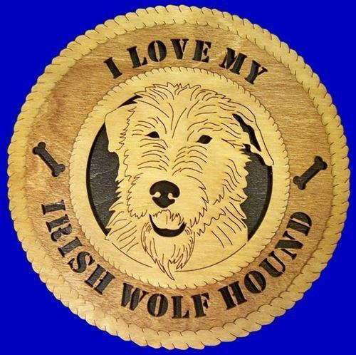 Laser Pics and Gifts:  IRISH WOLF HOUND Dog Plaque - Laser Pics & Gifts