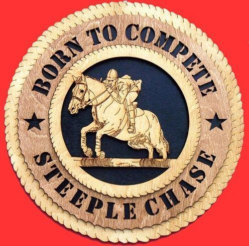 Laser Pics and Gifts:  HORSE JUMPING Plaque - Laser Pics & Gifts