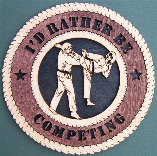 Laser Pics and Gifts:  KARATE FEMALE Plaque - Laser Pics & Gifts