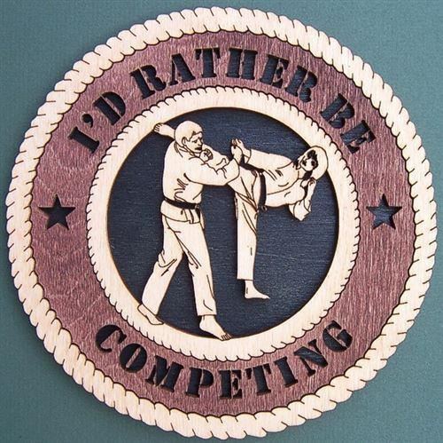 "Laser Pics and Gifts: 12"" KARATE FEMALE Plaque - Laser Pics & Gifts"