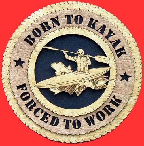 Laser Pics and Gifts: KAYAKING Plaque - Laser Pics & Gifts