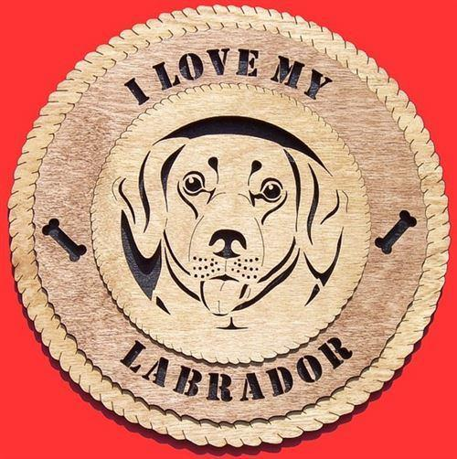 Laser Pics and Gifts:  LABRADOR Dog Plaque - Laser Pics & Gifts
