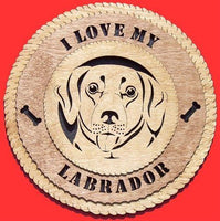 "Laser Pics and Gifts: 12"" LABRADOR Dog Plaque - Laser Pics & Gifts"