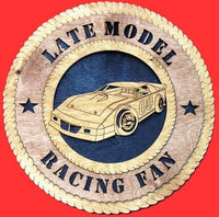Laser Pics and Gifts:  LATE MODEL RACER Plaque - Laser Pics & Gifts