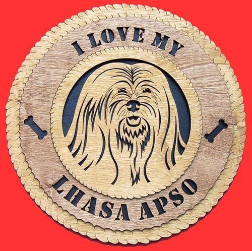 "Laser Pics and Gifts: 12"" LHASO-APSO Dog Plaque - Laser Pics & Gifts"