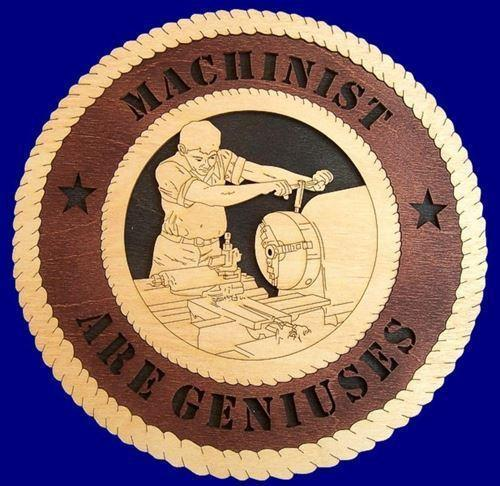 Laser Pics and Gifts:  MACHINIST Professional Plaque - Laser Pics & Gifts