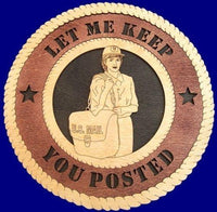 Laser Pics and Gifts: MAIL CARRIER FEMALE Professional Plaque - Laser Pics & Gifts