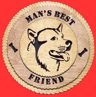 "Laser Pics and Gifts: 12"" MALAMUTE Dog Plaque - Laser Pics & Gifts"