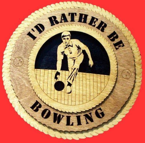 "Laser Pics and Gifts: 12"" MALE BOWLER Plaque - Laser Pics & Gifts"