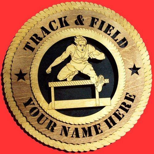 Laser Pics and Gifts:  MALE HURDLE Plaque - Laser Pics & Gifts