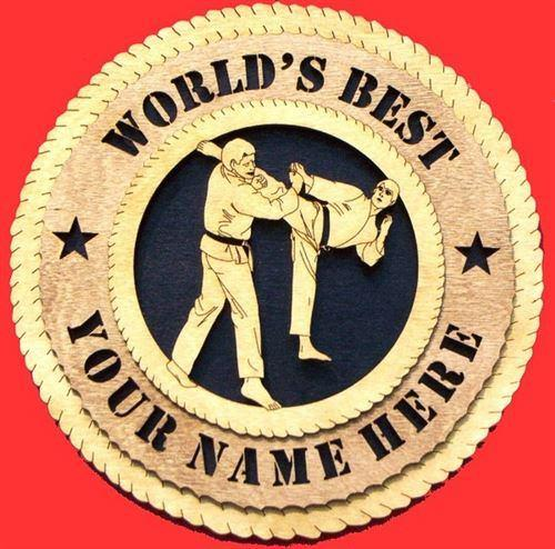 Laser Pics and Gifts: MALE KARATE Plaque - Laser Pics & Gifts