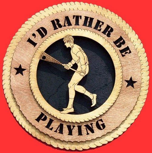 Laser Pics and Gifts:  MALE LACROSSE Plaque - Laser Pics & Gifts