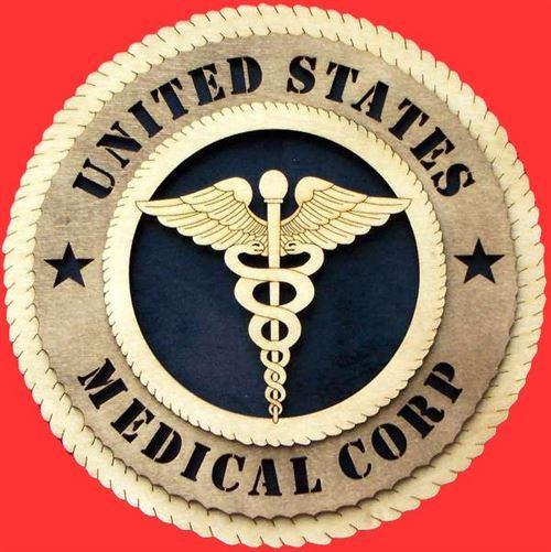 Laser Pics and Gifts: MEDICAL CORPS Military Plaque - Laser Pics & Gifts