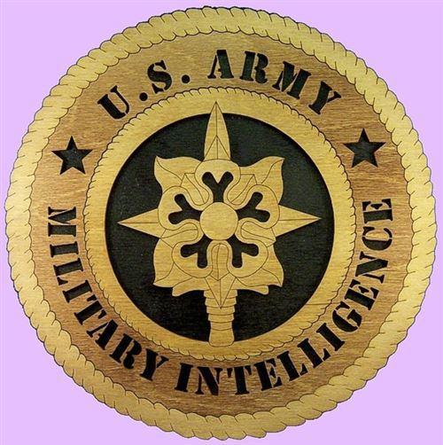 "Laser Pics and Gifts: 12"" Military INTELLIGENCE Military Plaque - Laser Pics & Gifts"